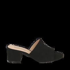 CALZATURA CIABATTE MICROFIBRA NERO, Zapatos, 152770341MFNERO035, 001a