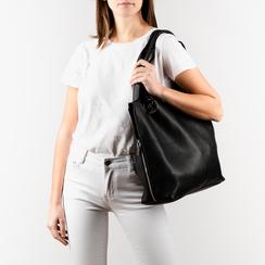 Shopper nera, Borse, 155702557EPNEROUNI, 002a