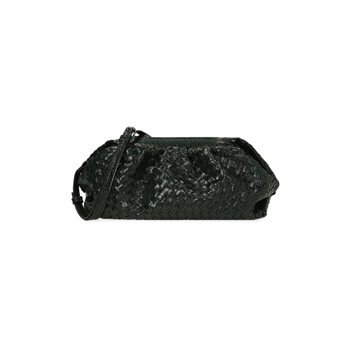 Maxi clutch vert tressée, IDEE REGALO, 165122668EIVERDUNI