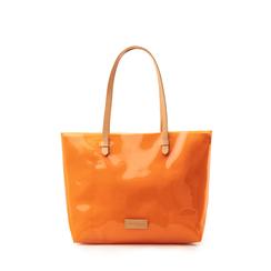 Maxi-bag arancio in pvc, Saldi Estivi, 133764210PVARANUNI, 001a