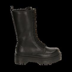 Anfibi con gambale medio neri, Primadonna, 162829101EPNERO040, 001a