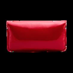 Pochette rossa in vernice lucida con tracolla a catenella, Primadonna, 126606545NPROSSUNI, 002