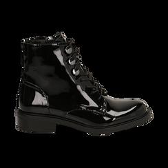 Polacchino nero in vernice , Scarpe, 14A776170VENERO035, 001 preview