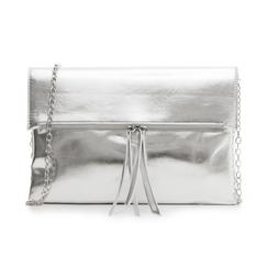 Bustina argento in eco-pelle, effetto metallizzato, Borse, 113308136LMARGEUNI, 001 preview