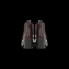 Chelsea Boots bordeaux con suola alta, tacco 5,5 cm, Scarpe, 122808601ABBORD, 003 preview