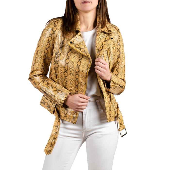 Biker jacket gialla stampa cocco, Abbigliamento, 156501164CCGIAL