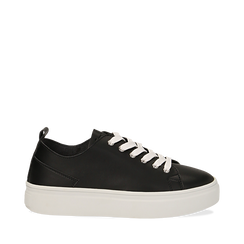 3808bfd1dfefb Sneakers nere in eco-pelle