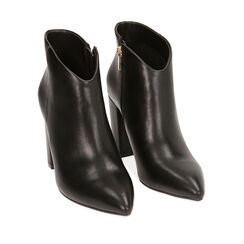 Ankle boots neri, tacco 9,5 cm , Chaussures, 174916101EPNERO035, 002a