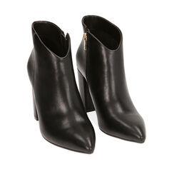 Ankle boots neri, tacco 9,5 cm ,  Zapatos, 174916101EPNERO035, 002a