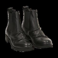 Chelsea boots neri in pelle di vitello , Stivaletti, 14A919642VINERO035, 002a