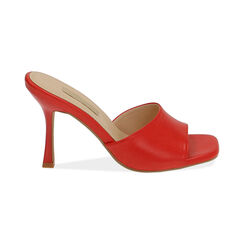 Mules rosse, tacco 9,5 cm , Primadonna, 174823921EPROSS035, 001 preview