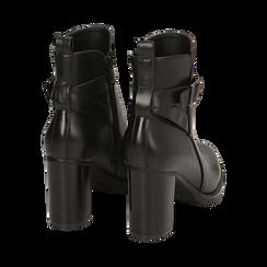Ankle boots neri, tacco 8 cm , Primadonna, 163066173EPNERO036, 004 preview