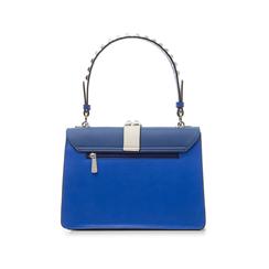 Borsa media blu in eco-pelle con borchie, Borse, 131992421EPBLUEUNI, 003 preview