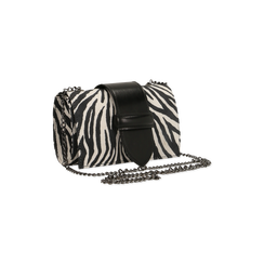 Pochette con tracolla in microfibra stampa zebrata, Saldi Borse, 126606618MFZEBRUNI, 003 preview