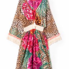Caftano lungo leopard con maniche lunghe, Primadonna, 130500102TSLEOPUNI, 002 preview