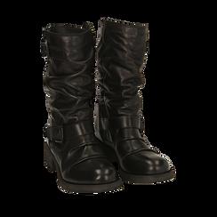 Botas biker de piel en color negro, Primadonna, 167718218PENERO036, 002a