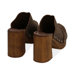 Clogs testa di moro in nabuk , Zapatos, 154304861NBMORO037, 004 preview