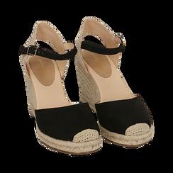 CALZATURA ESPADRILLAS MICROFIBRA NERO, Zapatos, 154922102MFNERO036, 002 preview
