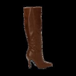 Stivali cuoio, tacco 10,50 cm , Primadonna, 162146862EPCUOI035, 001 preview