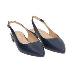 Slingback blu, Scarpe, 174992012EPBLUE036, 002 preview
