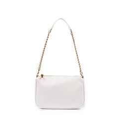 Petit sac porté épaule blanc en simili-cuir, Primadonna, 155127201EPBIANUNI, 001a