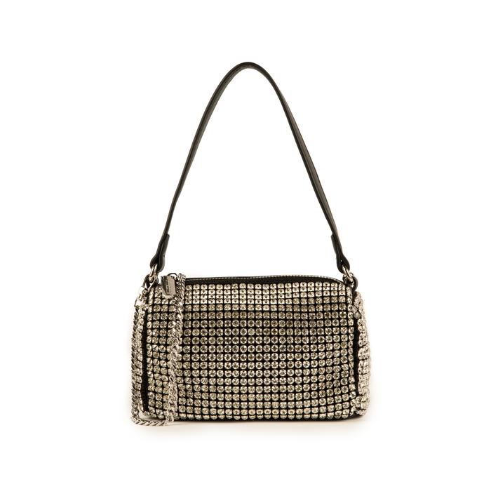 Mini bag nera con pietre, IDEE REGALO, 15F520054ETNEROUNI