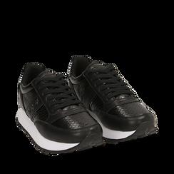 Zapatillas color negro estampado  víbora, Primadonna, 162619079EVNERO036, 002a