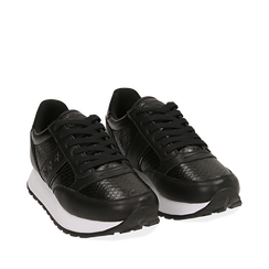 Sneakers noires imprimé vipère, Primadonna, 162619079EVNERO036, 002a