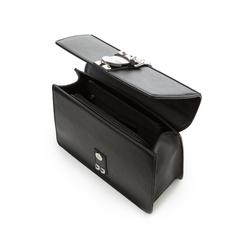 Borsa media nera in eco-pelle con borchie, Borse, 131992421EPNEROUNI, 004 preview