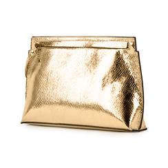 Pochette doré en simili cuir imprimé vipère, Primadonna, 15D208516EVOROGUNI, 004 preview