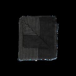 Pashmina nera in tessuto , Abbigliamento, 14B404024TSNEROUNI, 001 preview