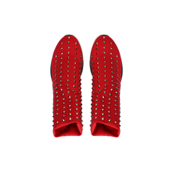 Sneakers rosse slip-on in lycra con cristalli, Primadonna, 122808611LYROSS037, 004 preview