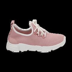 Sneakers nude in tessuto tecnico, Scarpe, 159715007TSNUDE036, 001 preview