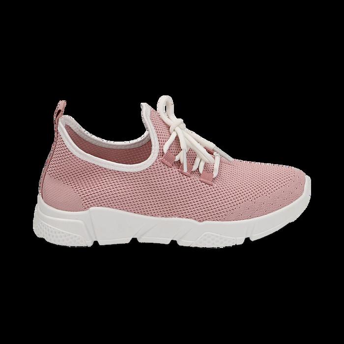Sneakers nude in tessuto tecnico, Scarpe, 159715007TSNUDE036