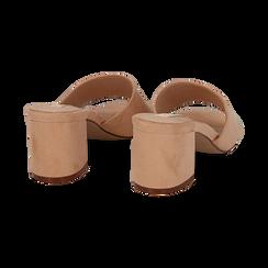 Mules nude in microfibra, tacco 6,50 cm , Primadonna, 134956151MFNUDE036, 004 preview