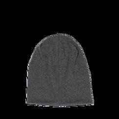 Cappello grigio in tessuto con cristalli, Abbigliamento, 14B406053TSGRIGUNI, 002a