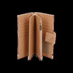 Portafogli nude in microfibra con 25 vani , Borse, 133322158MFNUDEUNI, 003 preview