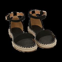 WOMEN SHOES ESPADRILLAS MICROFIBER NERO, Chaussures, 154913061MFNERO038, 002 preview