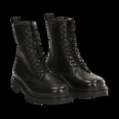 Botas militares de piel en color negro, Primadonna, 167729408PENERO036, 002 preview