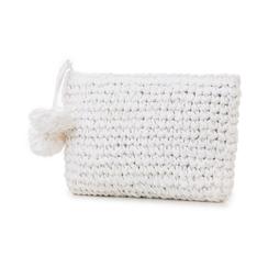 Pochette mare bianca in paglia intrecciata, Primadonna, 134504239PGBIANUNI, 004 preview