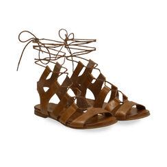 Sandales gladiateur en cuir cognac, Primadonna, 17B813337PECOGN035, 002 preview