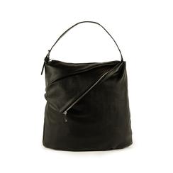 Maxi-bag nera in eco-pelle, Primadonna, 151990171EPNEROUNI, 001 preview