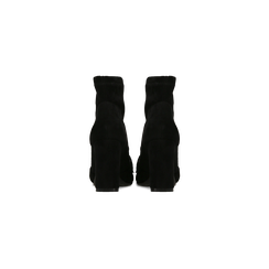 Tronchetti neri con catena e frange, tacco 9,5 cm, Primadonna, 122186592MFNERO, 003 preview