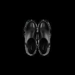 Tronchetti neri con banda elastica, tacco 4 cm, Primadonna, 128900600VINERO036, 004 preview