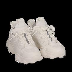 Dad shoes en eco-piel color blanco, Zapatos, 15K319391EPBIAN036, 002a