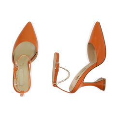 Slingback arancio, tacco 10 cm , Primadonna, 172190575EPARAN035, 003 preview