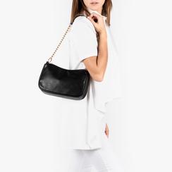 Petit sac porté épaule noir en simili-cuir, Primadonna, 155127201EPNEROUNI, 002a
