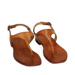 Sandales cognac en cuir de vache, Primadonna, 177239378VACOGN035, 002a