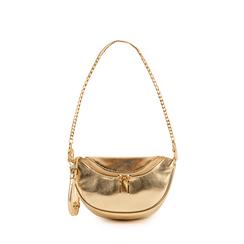 Mini bag oro laminata, Borse, 155122722LMOROGUNI, 001a