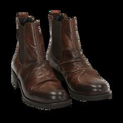 Chelsea boots cuoio in pelle di vitello , Stivaletti, 14A919642VICUOI035, 002a